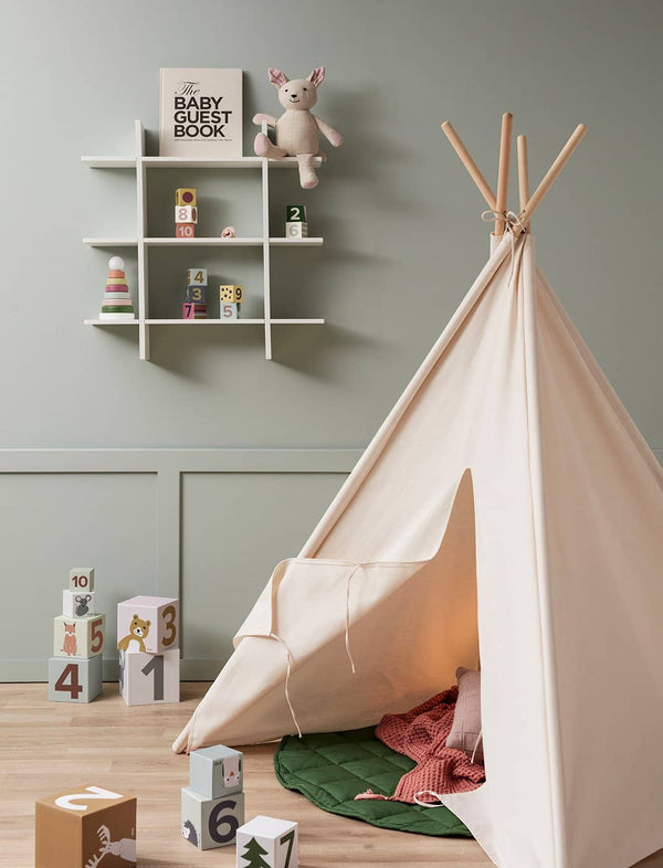 Kid's Concept - Tipi / Teepee Play Tent Off White, Play Tent, Kids Concept - All Mamas Children