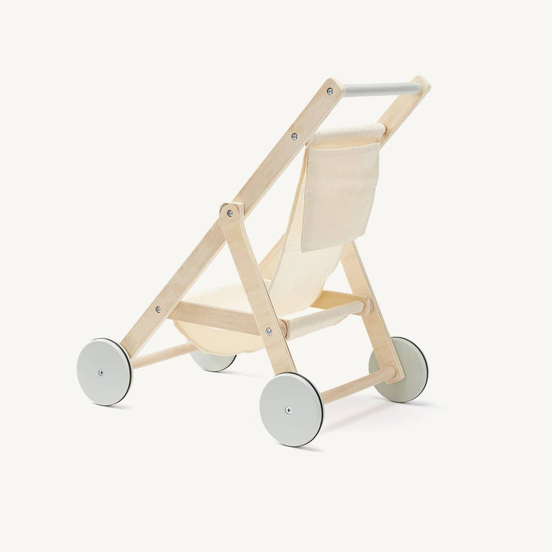Kid's Concept - Dolls Stroller in Natural Wood and Cotton, Dolls Stroller, Kids Concept - All Mamas Children