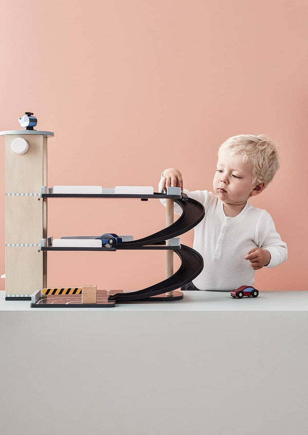 Kid's Concept - AIDEN 3 Level Wooden Garage / Car Park Play Set - All Mamas Children
