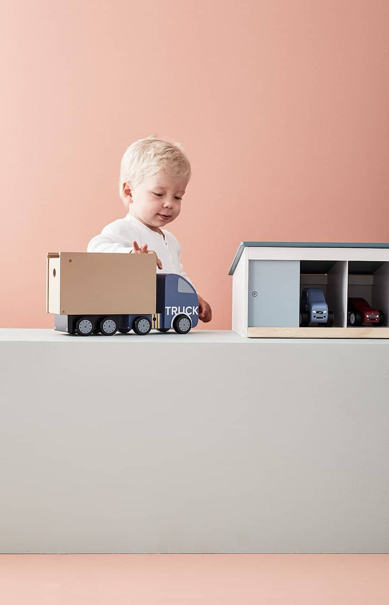 AIDEN Large Wooden Toy Garage, Play Set, Kids Concept - All Mamas Children