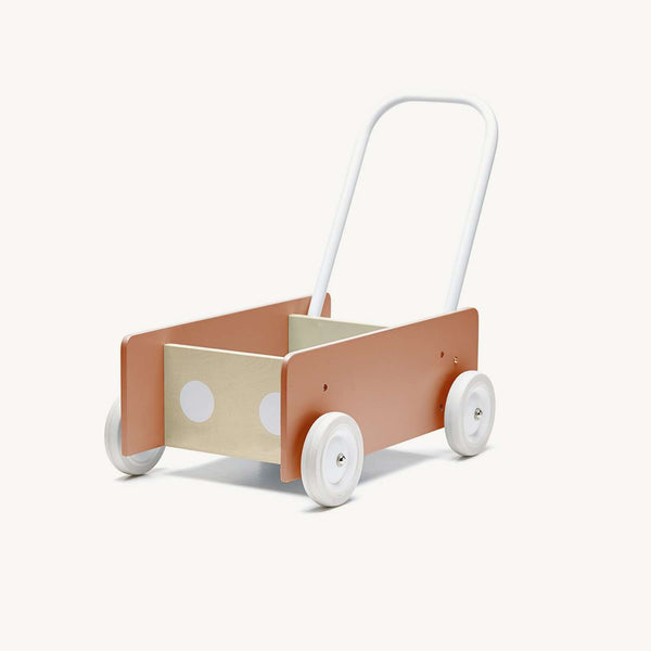Kid's Concept Wooden Baby Walker - Dark Apricot, Baby Walker, Kids Concept - All Mamas Children