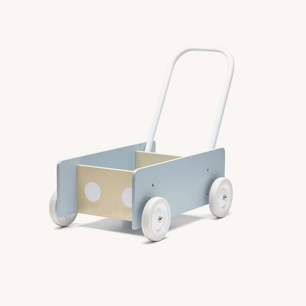 Kid's Concept - Wooden Baby Walker - Blue, Baby Walker, Kids Concept - All Mamas Children