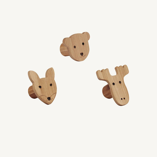 Kid's Concept - Bamboo Hook Figures (set of 3)