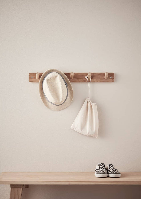 Kid's Concept - Bamboo Hook Board (5 peg) - All Mamas Children