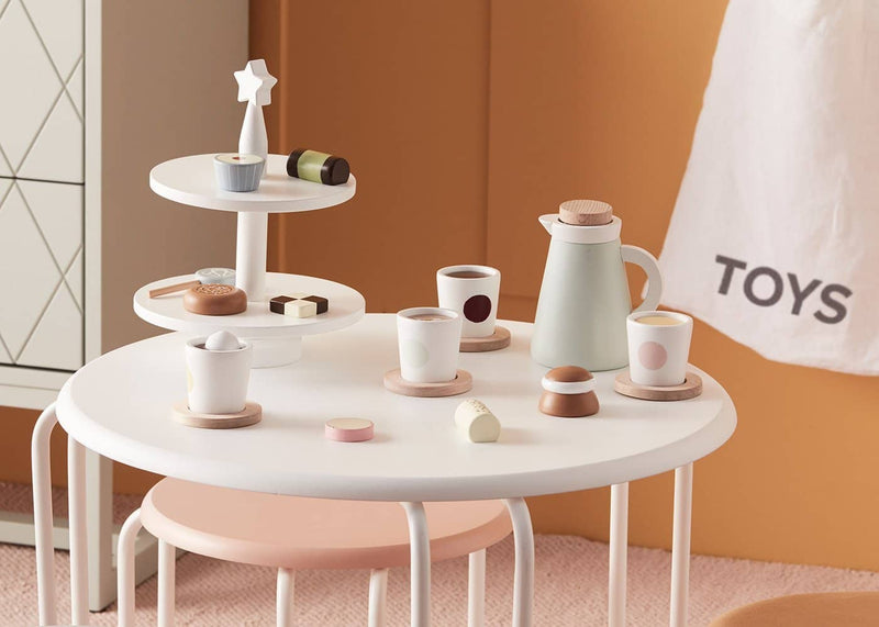 Kid's Concept - Bistro Wooden Toy Cake Stand, Kitchen Toys, Kids Concept - All Mamas Children