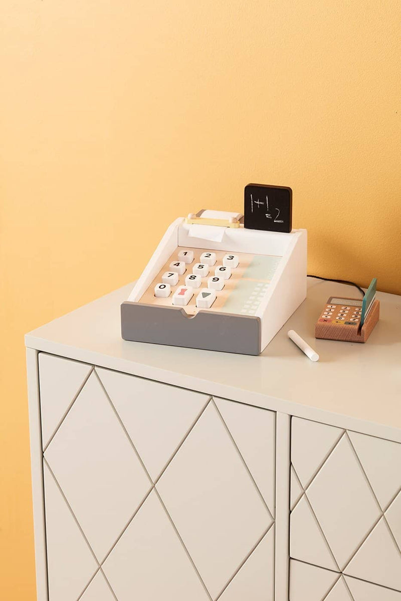 Kid's Concept - Wooden Toy Cash Register, Pretend Play, Kids Concept - All Mamas Children