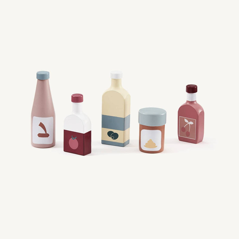 Kid's Concept - Bistro Wooden Condiment Bottle Set, Kitchen Toys, Kids Concept - All Mamas Children