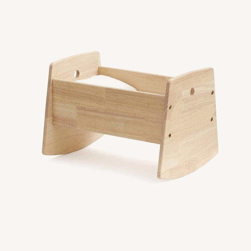 Kid's Concept - Dolls Cradle / Crib in Natural Rubber Wood, Dolls Cradle, Kids Concept - All Mamas Children