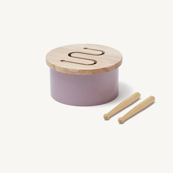 Kid's Concept - Lilac Wooden Toy Drum, Toy Instruments, Kids Concept - All Mamas Children