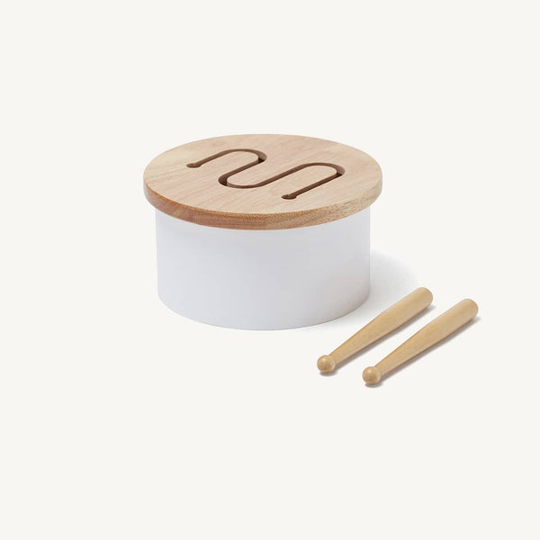 Kid's Concept - White Wooden Toy Drum, Toy Instruments, Kids Concept - All Mamas Children