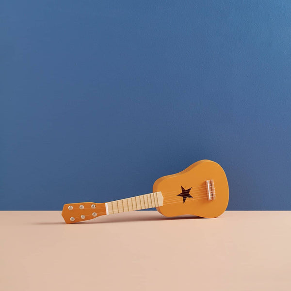 Kid's Concept - Star Yellow Wooden Toy Guitar, Toy Instruments, Kids Concept - All Mamas Children