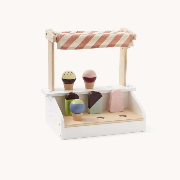 Kid's Concept - Bistro Ice Cream Stand With 6 Ice Creams Cones and Ice Lollies, Kitchen Toys, Kids Concept - All Mamas Children