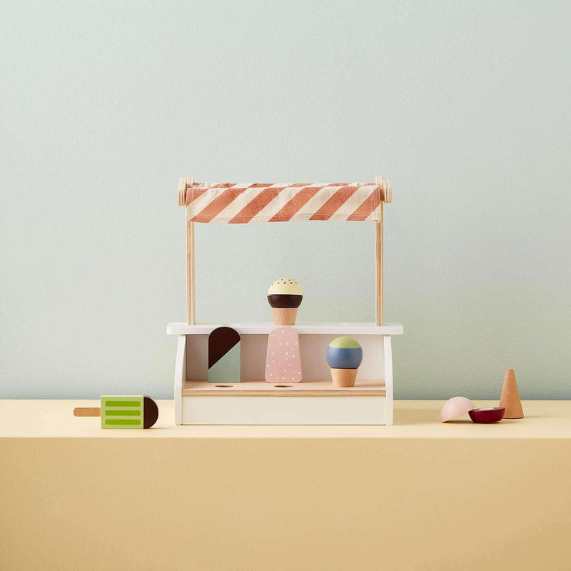 Kid's Concept - Ice Cream Stand With 6 Ice Creams Cones and Ice Lollies, Kitchen Toys, Kids Concept - All Mamas Children
