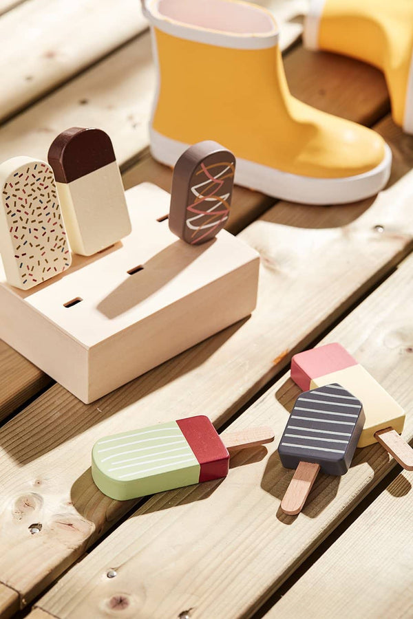 6 Wooden Toy Ice Lollies, Kitchen Toys, Kids Concept - All Mamas Children