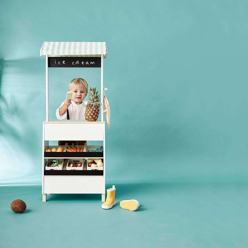 Kid's Concept - Wooden Toy Market Stand, Kitchen Toys, Kids Concept - All Mamas Children