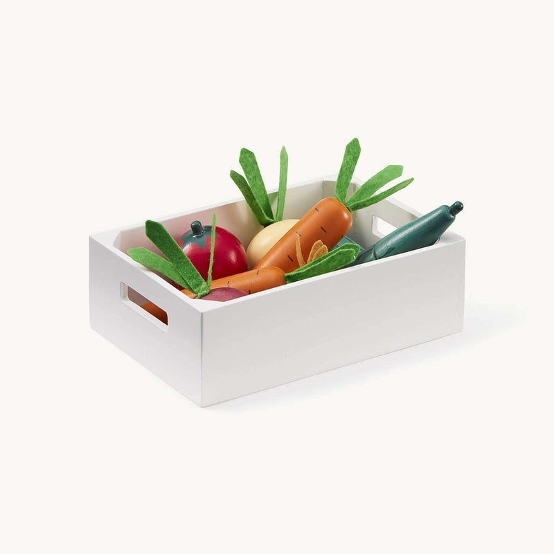 Kid's Concept - Wooden Toy Mixed Vegetable Box, Kitchen Toys, Kids Concept - All Mamas Children