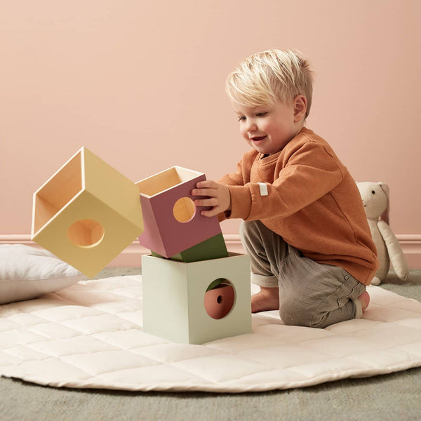 Kid's Concept - Edvin 5 Piece Wooden Cubes, Blocks, Kids Concept - All Mamas Children