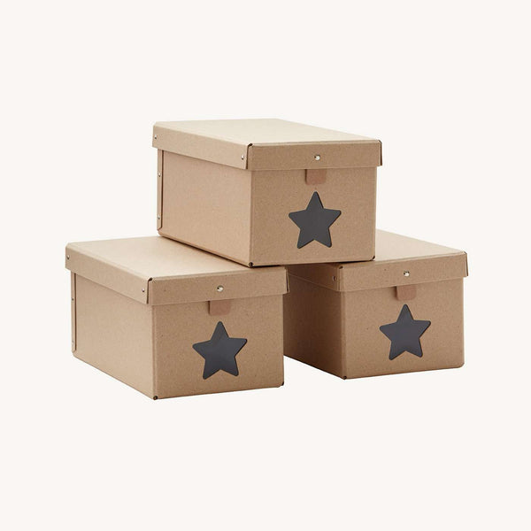 Kid's Concept - Natural Set of 3 Nursery shoe / storage boxes, Storage, Kids Concept - All Mamas Children