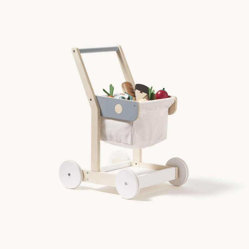 Kid's Concept - Wooden Toy Shopping Trolley, Pretend Play, Kids Concept - All Mamas Children