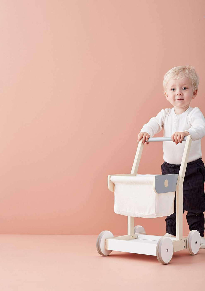 Kid's Concept - Bistro Wooden Toy Shopping Trolley, Pretend Play, Kids Concept - All Mamas Children