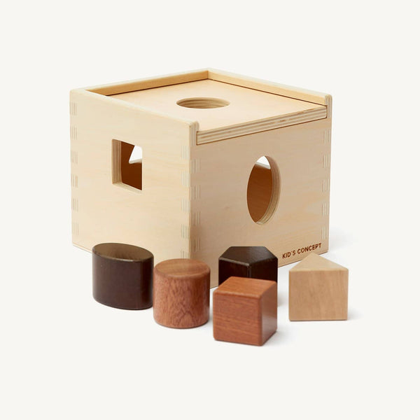 Kid's Concept - Neo Wooden Shape Sorter Box Natural - All Mamas Children