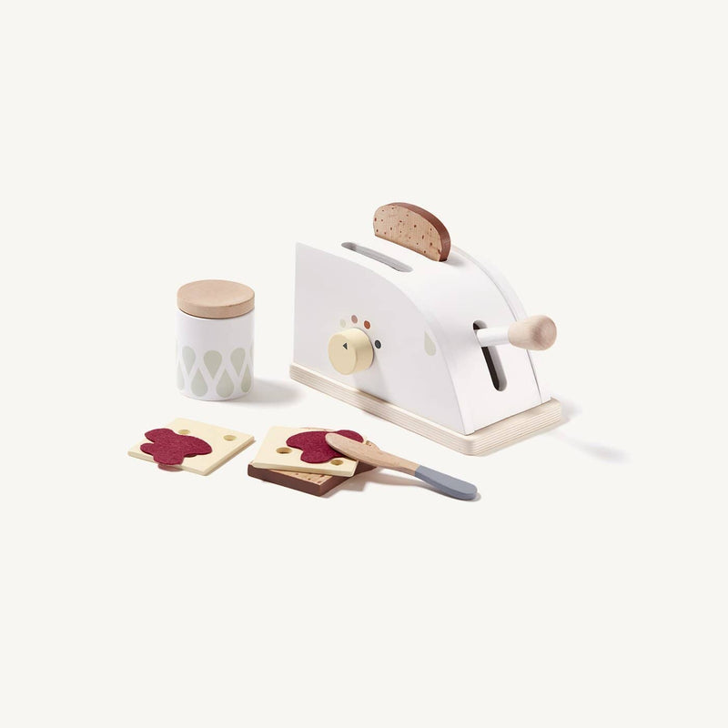 Kid's Concept - Wooden Toy Toaster Set With 8 Accessories, Kitchen Toys, Kids Concept - All Mamas Children