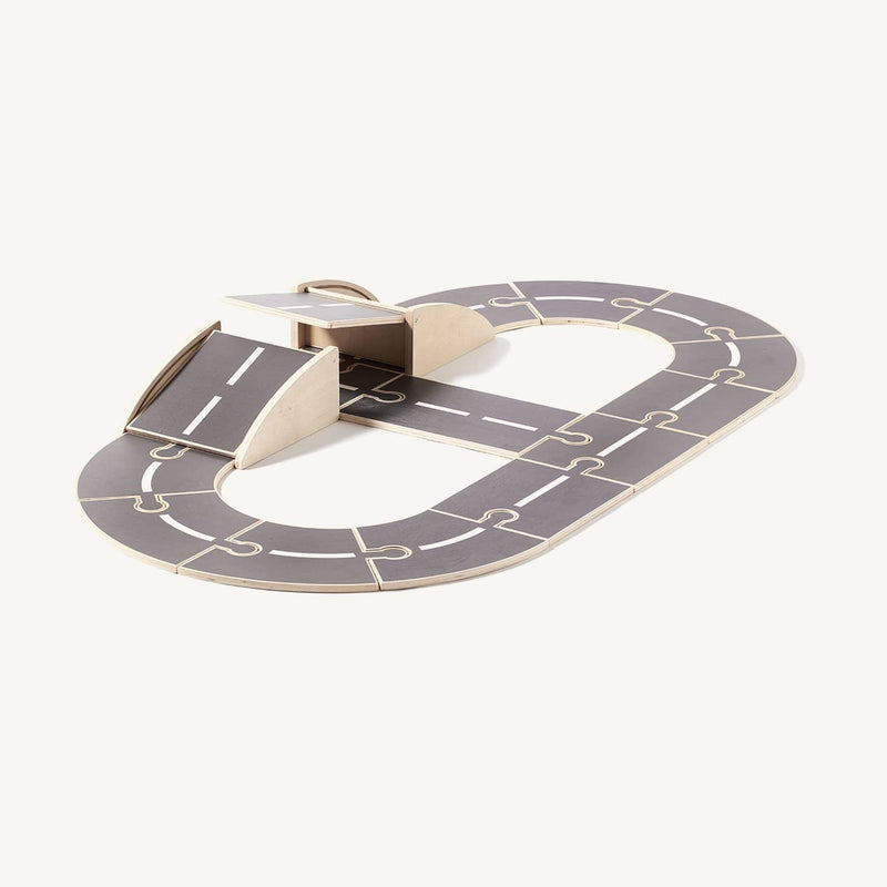 Kid's Concept - AIDEN Wooden Car Track, Play Set, Kids Concept - All Mamas Children