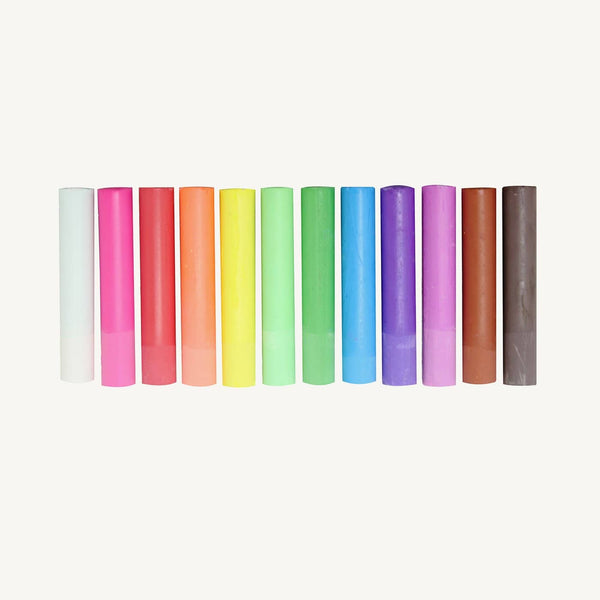 Kitpas Rikigaku All Natural Art Chalk 12 Colours, Chalk, Kitpas - All Mamas Children