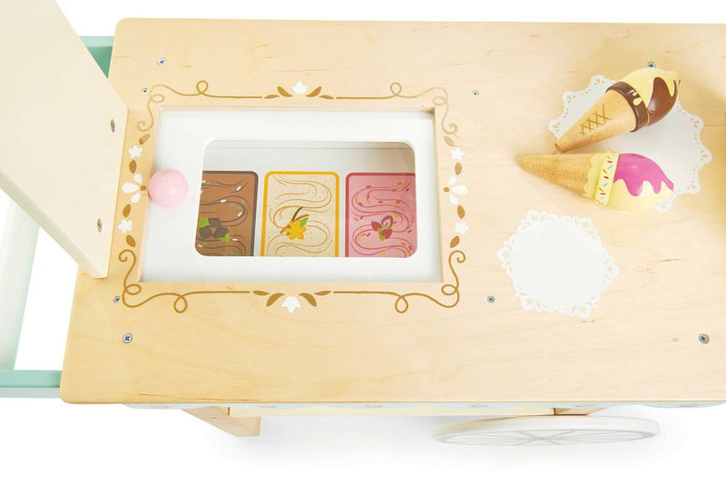 Le Toy Van - Honeybake Wooden Ice Cream Trolley, Pretend Play, Le Toy Van - All Mamas Children