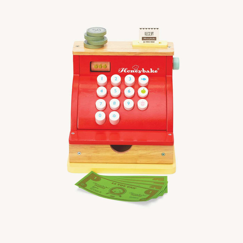 Le Toy Van - Red Honeybake Woden Cash Register, Pretend Play, Le Toy Van - All Mamas Children
