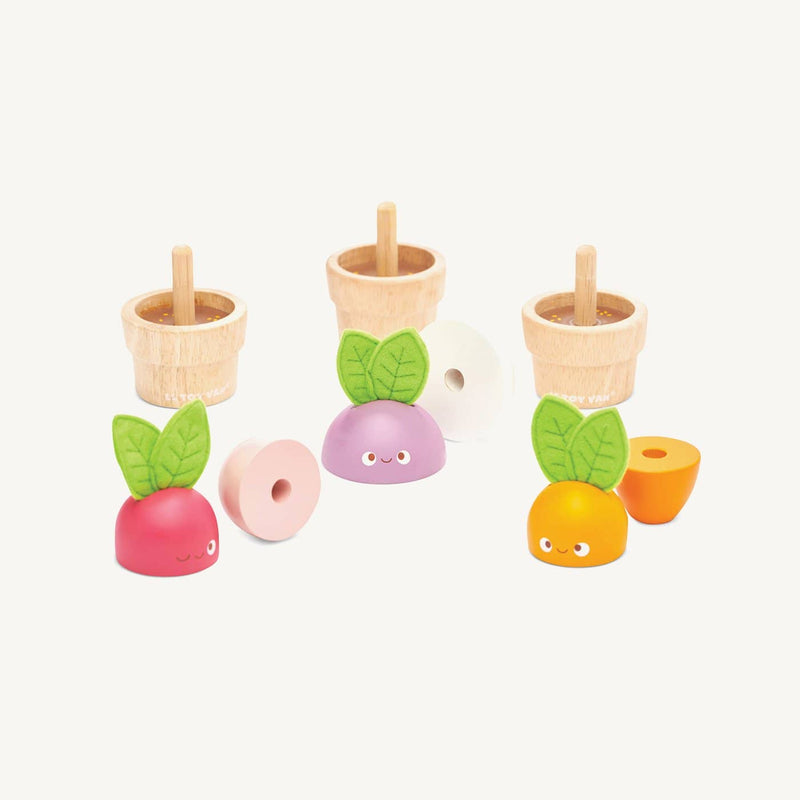 Le Toy Van - Petilou Wooden 'Stacking Veggies', Pretend Play, Le Toy Van - All Mamas Children