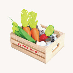 Le Toy Van - Honeybee Market Wooden Harvest Vegetables '5 a Day' Crate, Pretend Play, Le Toy Van - All Mamas Children