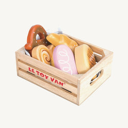 Le Toy Van - Honeybee Market Wooden Baker's Basket Crate, Pretend Play, Le Toy Van - All Mamas Children