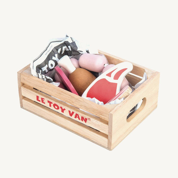 Le Toy Van - Honeybee Market Wooden Meat Crate, Pretend Play, Le Toy Van - All Mamas Children