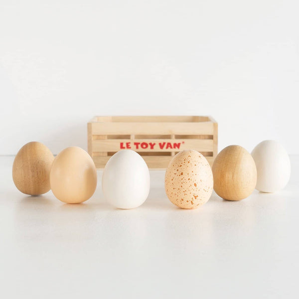 Le Toy Van - Honeybee Market Farm Eggs Half Dozen Crate - All Mamas Children