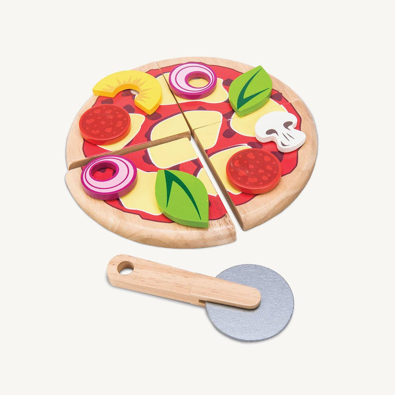 Le Toy Van - Wooden Pizza Set With Cutter, Pretend Play, Le Toy Van - All Mamas Children