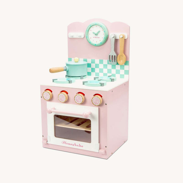 269f1dd3e87c ... Le Toy Van - Honeybake Wooden Oven & Hob Set - Pink, Pretend Play,