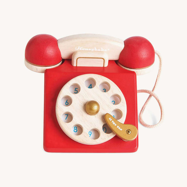 Le Toy Van - Honeybake Wooden Vintage Phone, Pretend Play, Le Toy Van - All Mamas Children