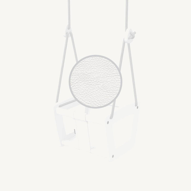 LILLAGUNGA Toddler and Baby Swing - White Birch with White Leather Seat and Grey Ropes, Swing, Lillagunga - All Mamas Children