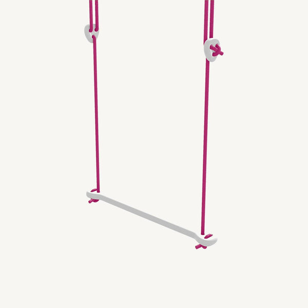 LILLAGUNGA Bone - White Birch with Fuchsia Ropes, Swing, Lillagunga - All Mamas Children