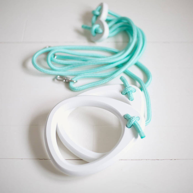 LILLAGUNGA Gym Rings - White Birch with Mint Ropes - All Mamas Children