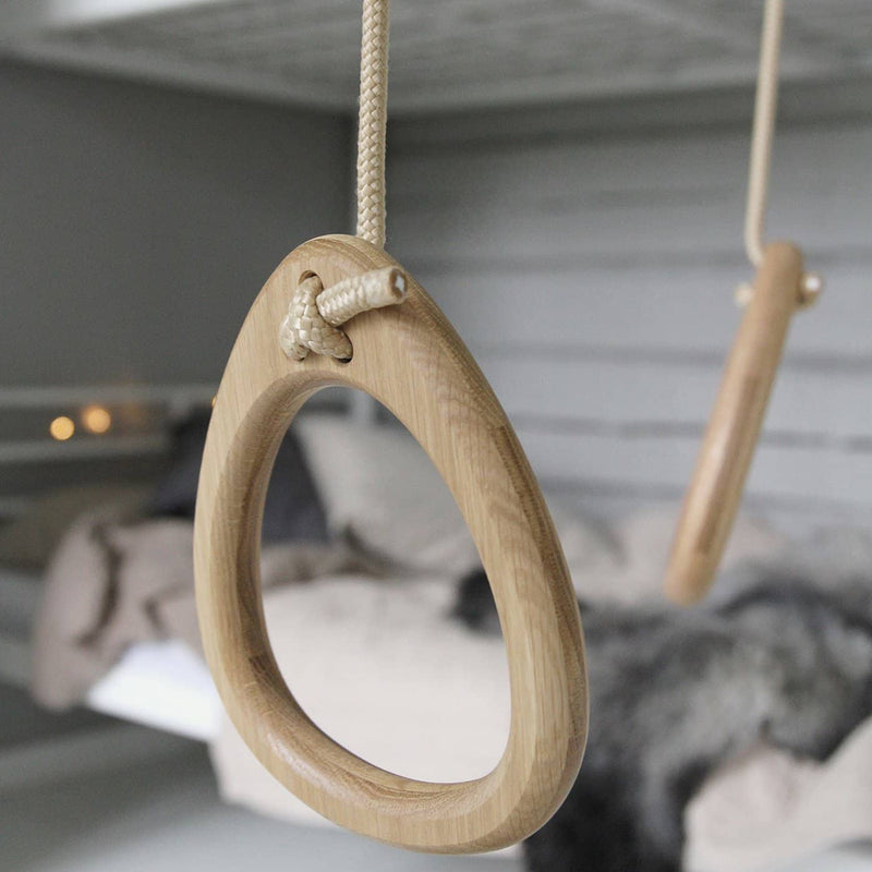 LILLAGUNGA Gym Rings - Oak with Grey Ropes - All Mamas Children