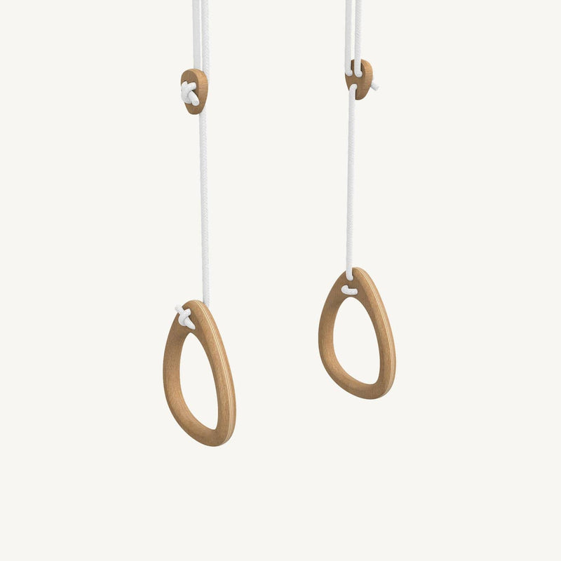 LILLAGUNGA Gym Rings - Oak with White Ropes - All Mamas Children