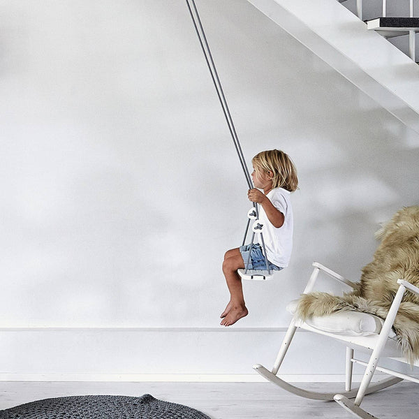 LILLAGUNGA Classic Swing - White Birch with Mint Ropes, Swing, Lillagunga - All Mamas Children