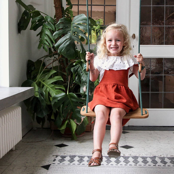 LILLAGUNGA Classic Swing - Oak with Mint Ropes - All Mamas Children