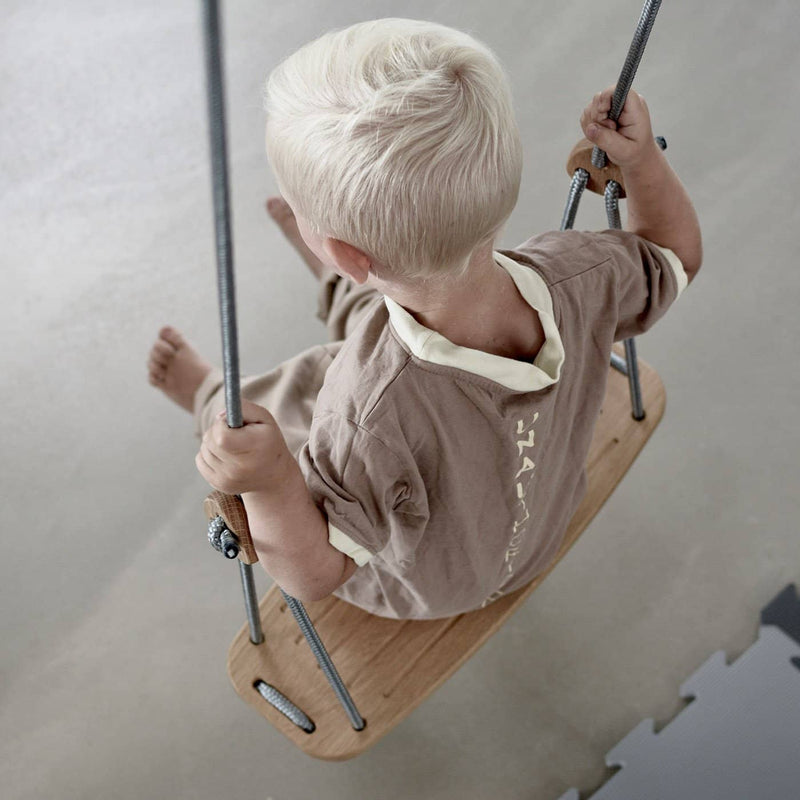 LILLAGUNGA Classic Swing - Oak with White Ropes, Swing, Lillagunga - All Mamas Children