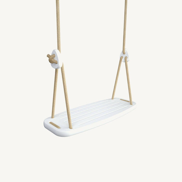 LILLAGUNGA Classic Swing - White Birch with Beige Ropes, Swing, Lillagunga - All Mamas Children