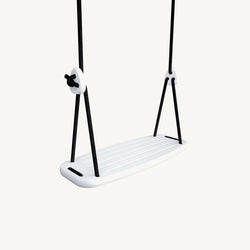 LILLAGUNGA Classic Swing - White Birch with Black Ropes, Swing, Lillagunga - All Mamas Children