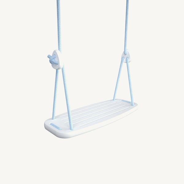 LILLAGUNGA Classic Swing - White Birch with Blue Ropes, Swing, Lillagunga - All Mamas Children