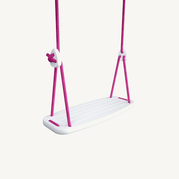 LILLAGUNGA Classic Swing - White Birch with Fuchsia Ropes, Swing, Lillagunga - All Mamas Children